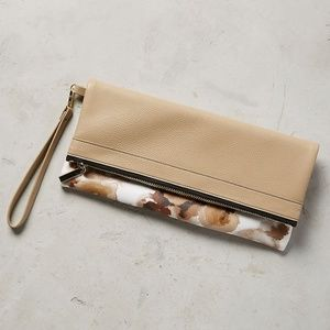 ANTHROPOLOGIE~Antiquary Wristlet Foldover Floral